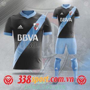 áo bóng đá tự thiết kế đẹp màu trắng đen