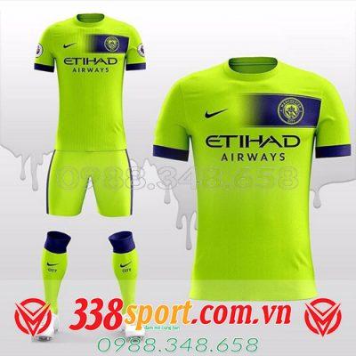 áo đấu tự thiết kế đẹp CLB Mancity màu xanh chuối