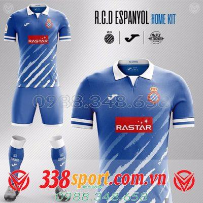 áo bóng đá tự thiết kế màu xanh dương đẹp