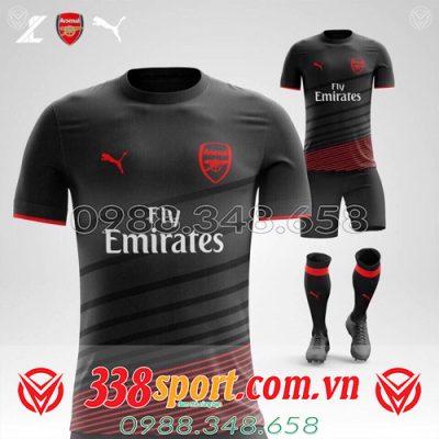 áo đấu Arsenal tự thiết kế màu đen