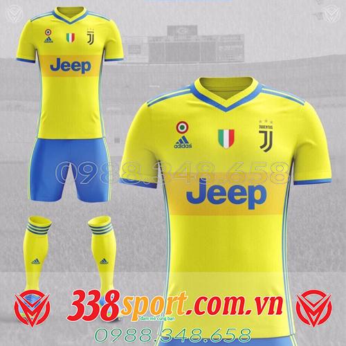 áo bóng đá đẹp màu vàng tự thiết kế