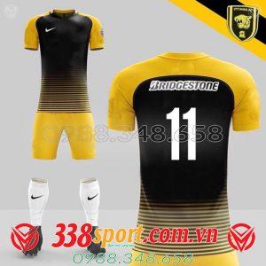 áo bóng đá đẹp tự thiết kế màu đen