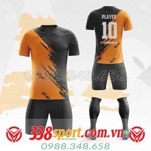 áo bóng đá tự thiết kế màu cam đen