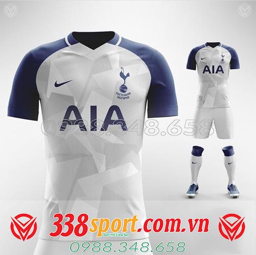 Áo bóng đá tự thiết kế CLB Tottenham màu trắng