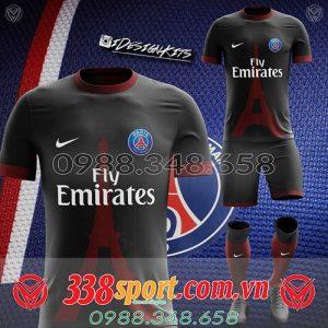 áo bóng đá tự thiết kế màu đen đẹp