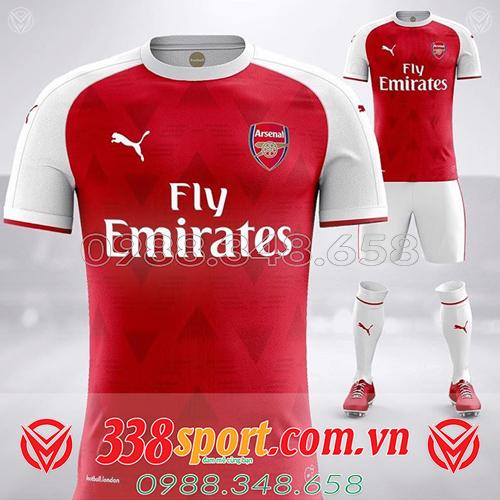 áo tự thiết kế clb Arsenal màu đỏ