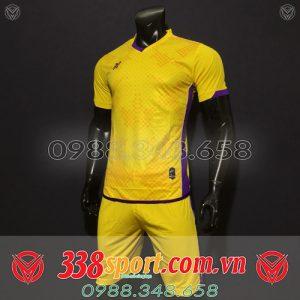 áo bóng đá không logo đẹp màu vàng mới 2020